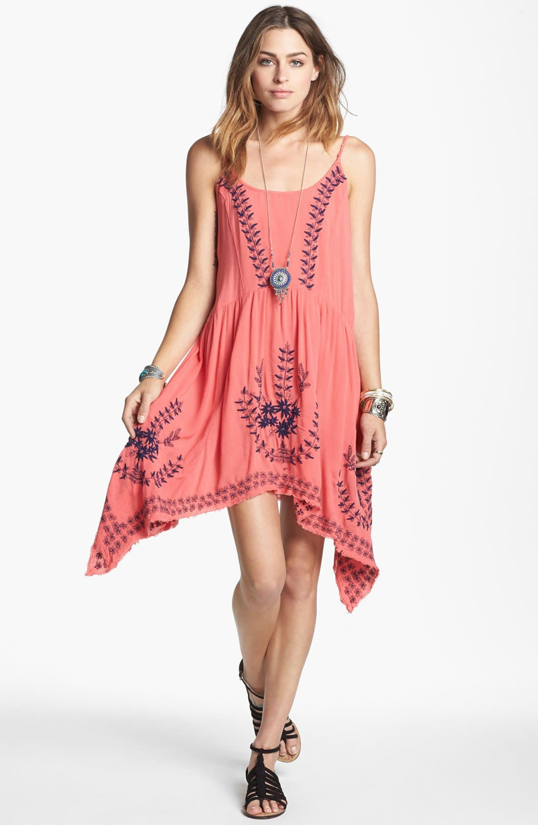 Alternate Image 1  - Free People 'Meadows of Medallion' Slip Dress