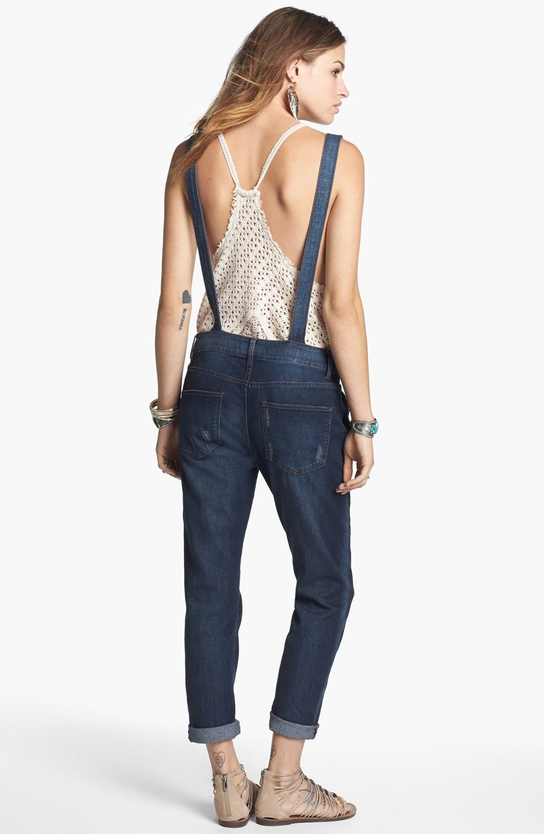 Alternate Image 2  - Free People Denim Overalls