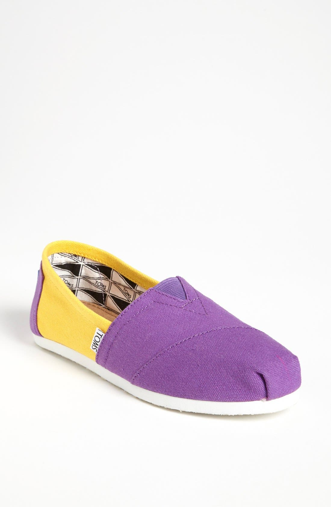 Main Image - TOMS 'Campus Classics - Louisiana State' Slip-On (Women)