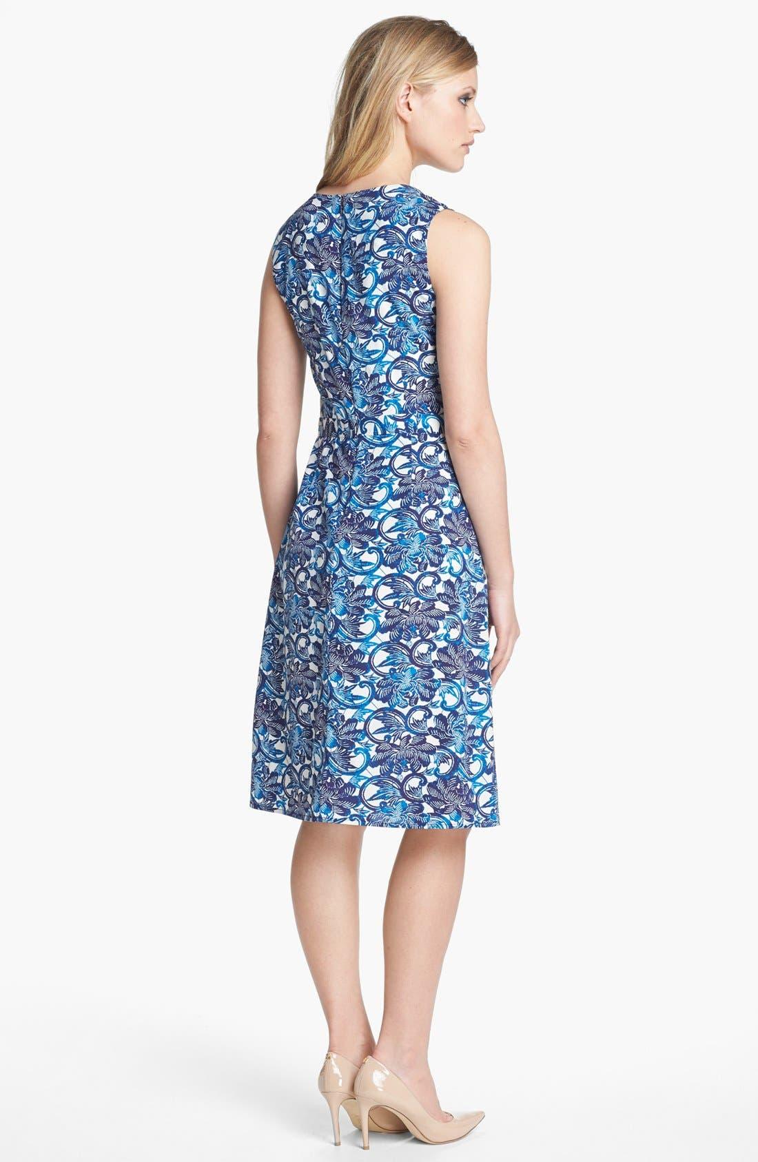 Alternate Image 2  - Tory Burch 'Maxine' Stretch Silk A-Line Dress