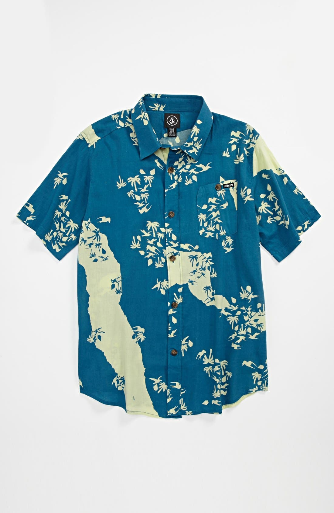 Main Image - Volcom 'Stonepede' Short Sleeve Sport Shirt (Big Boys)