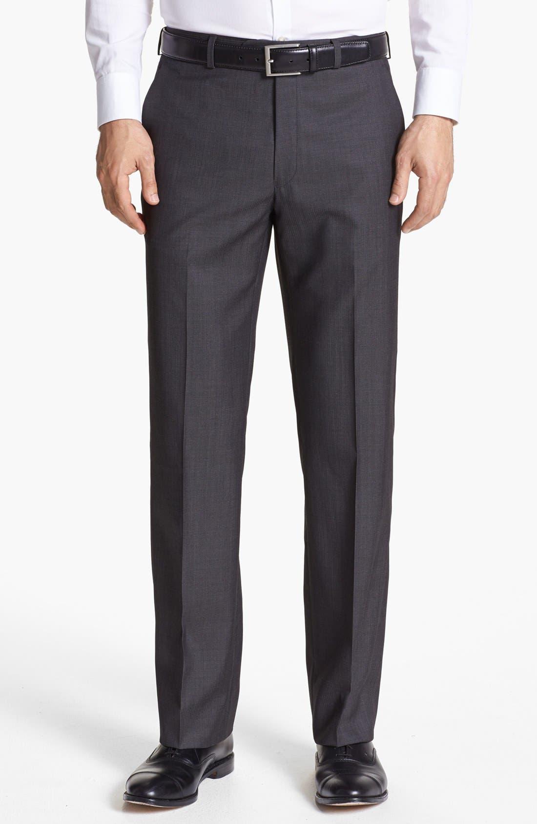 Main Image - John Varvatos Star USA  'Thompson' Flat Front Trousers