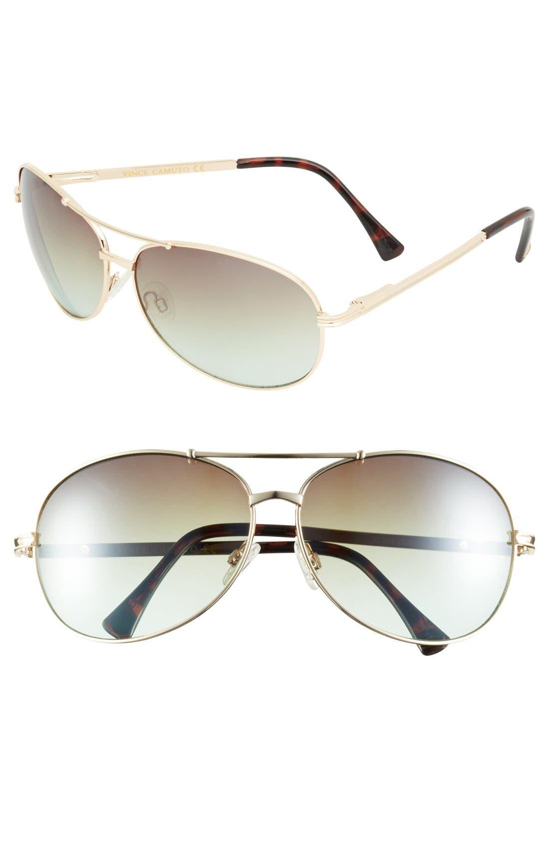 Alternate Image 1 Selected - Vince Camuto 65mm Aviator Sunglasses