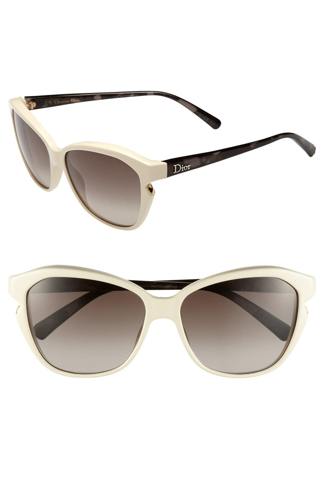 Alternate Image 1 Selected - Dior 'Simply Dior' 58mm Cat's Eye Sunglasses