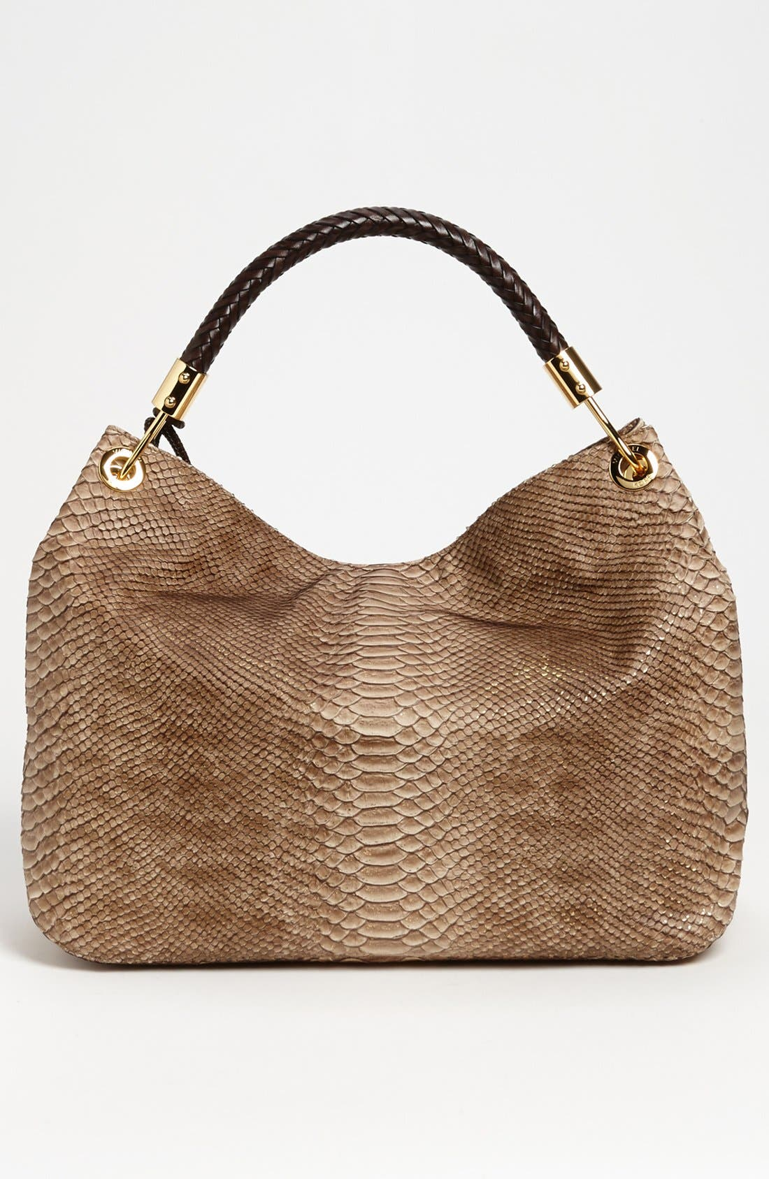 Alternate Image 4  - Michael Kors 'Skorpios' Python Print Shoulder Bag