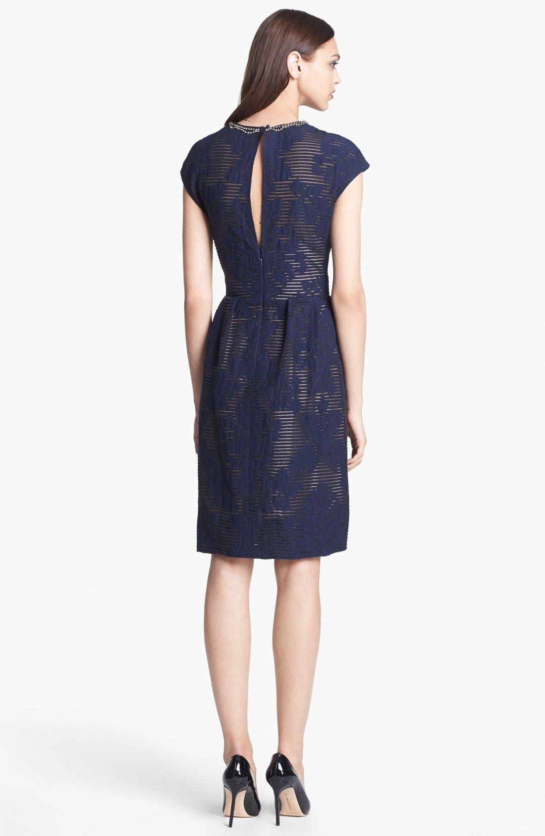 Alternate Image 2  - Lela Rose Full Skirt Cocktail Dress