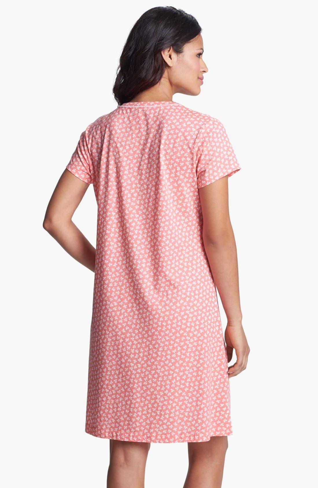 Alternate Image 2  - Carole Hochman Cotton Knit Sleep Shirt