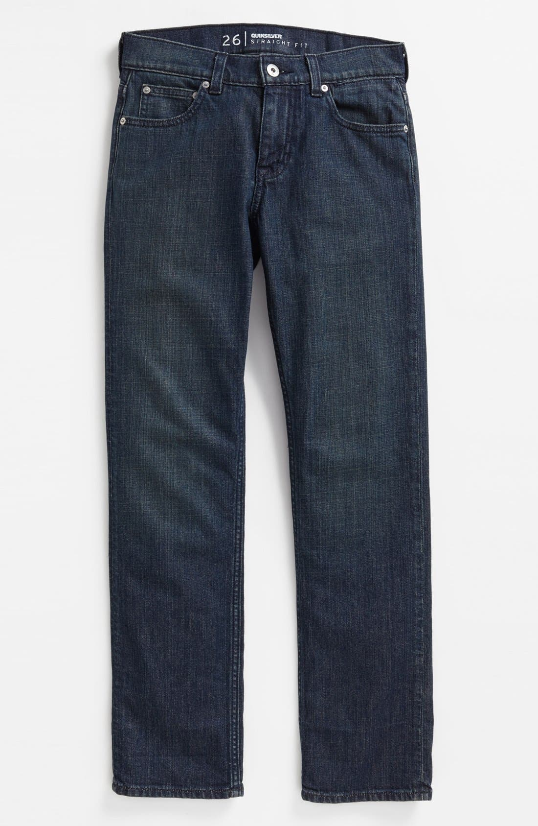 Alternate Image 2  - Quiksilver 'Revolver' Straight Leg Jeans (Big Boys)