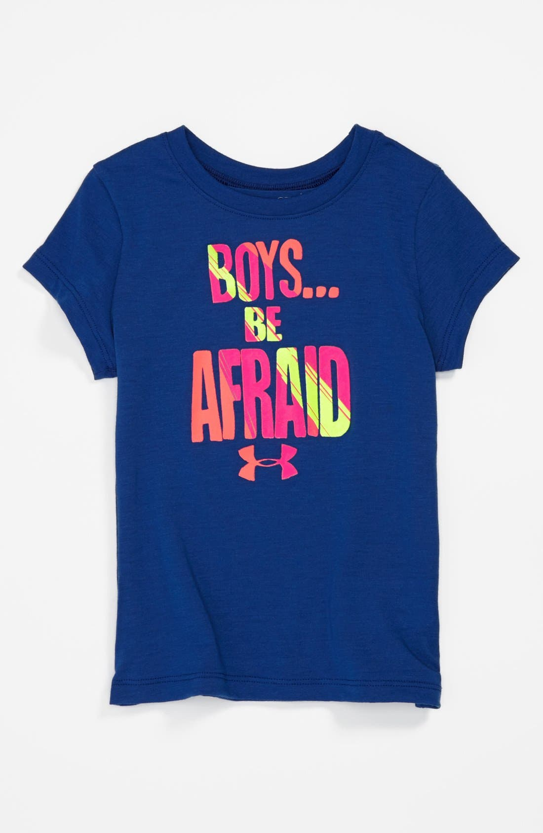 Alternate Image 1 Selected - Under Armour Screenprint Tee (Toddler Girls)