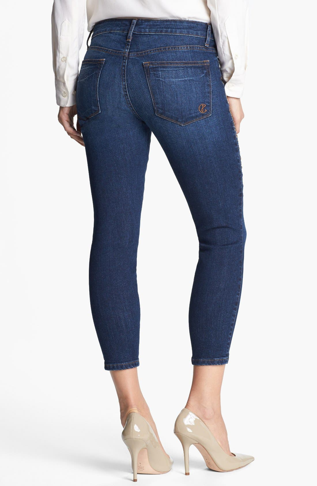 Alternate Image 2  - CJ by Cookie Johnson 'Believe' Embellished Crop Stretch Jeans