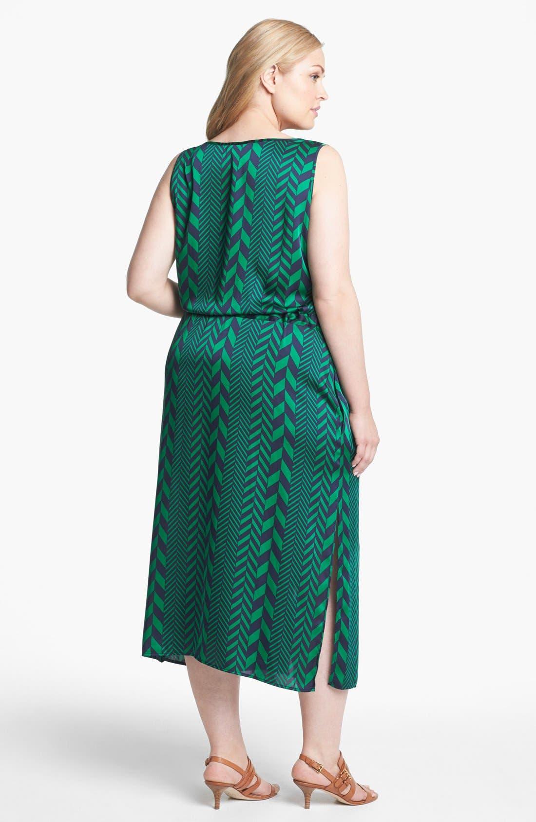 Alternate Image 2  - MICHAEL Michael Kors 'League Stripe' Tank Dress (Plus Size)