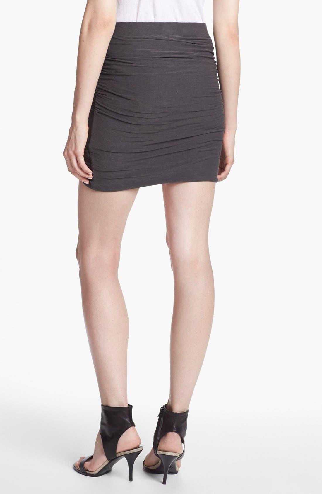 Alternate Image 2  - James Perse Wrapped Miniskirt