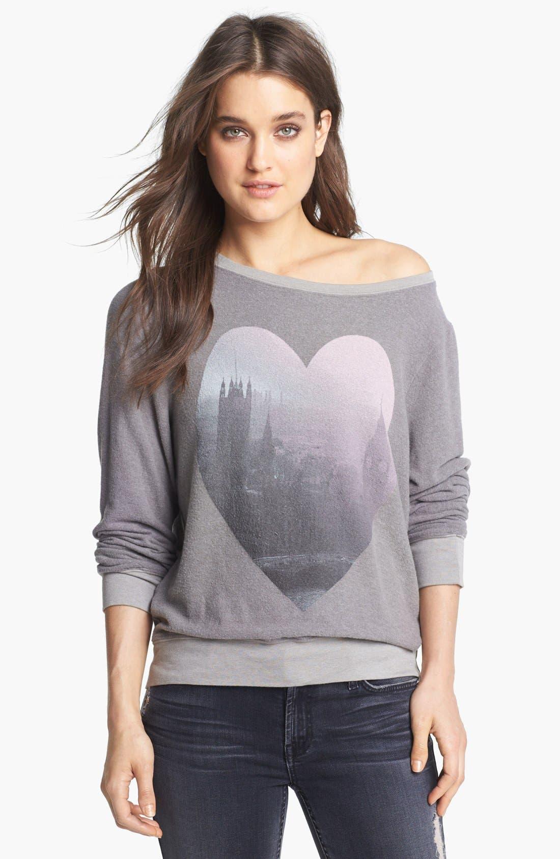 Main Image - Wildfox 'London Heart' Sweatshirt (Nordstrom Exclusive)