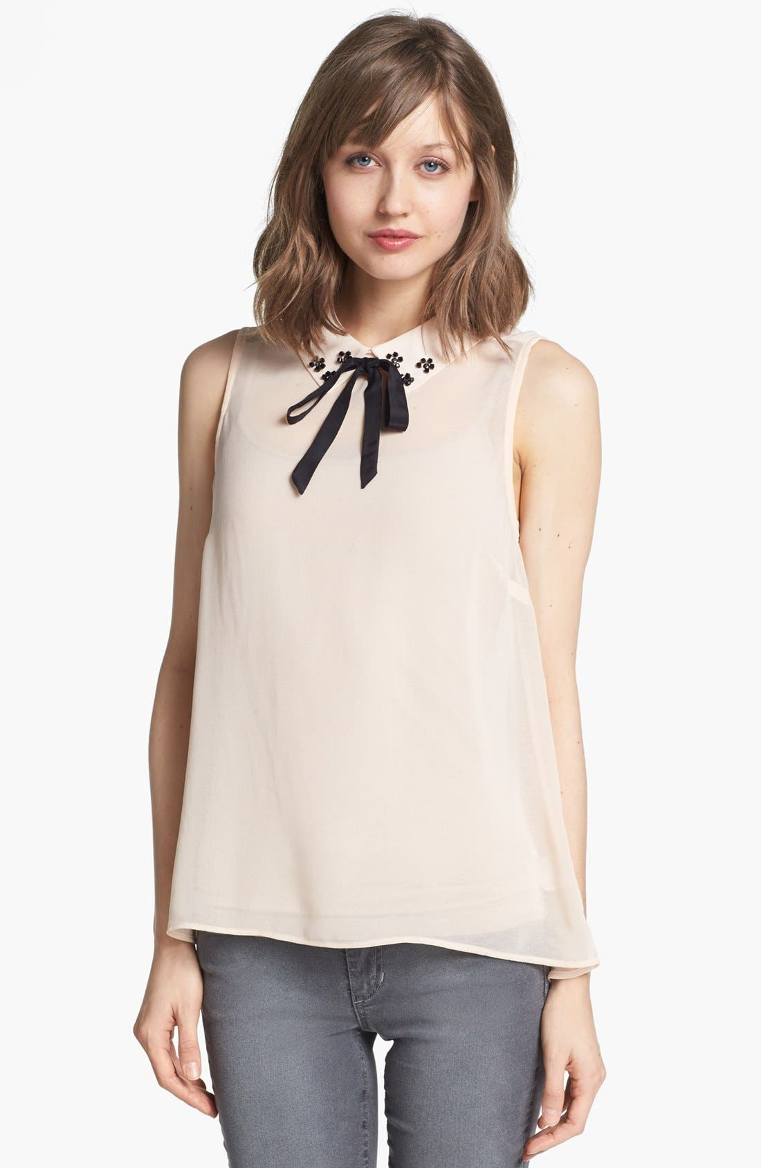Alternate Image 1 Selected - Willow & Clay Bow Collar Top
