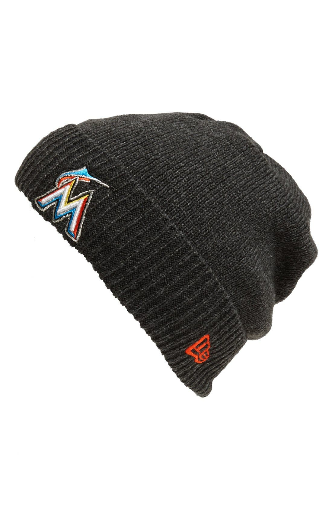 Alternate Image 1 Selected - New Era Cap 'Miami Marlins - Thermal Cuff' Beanie