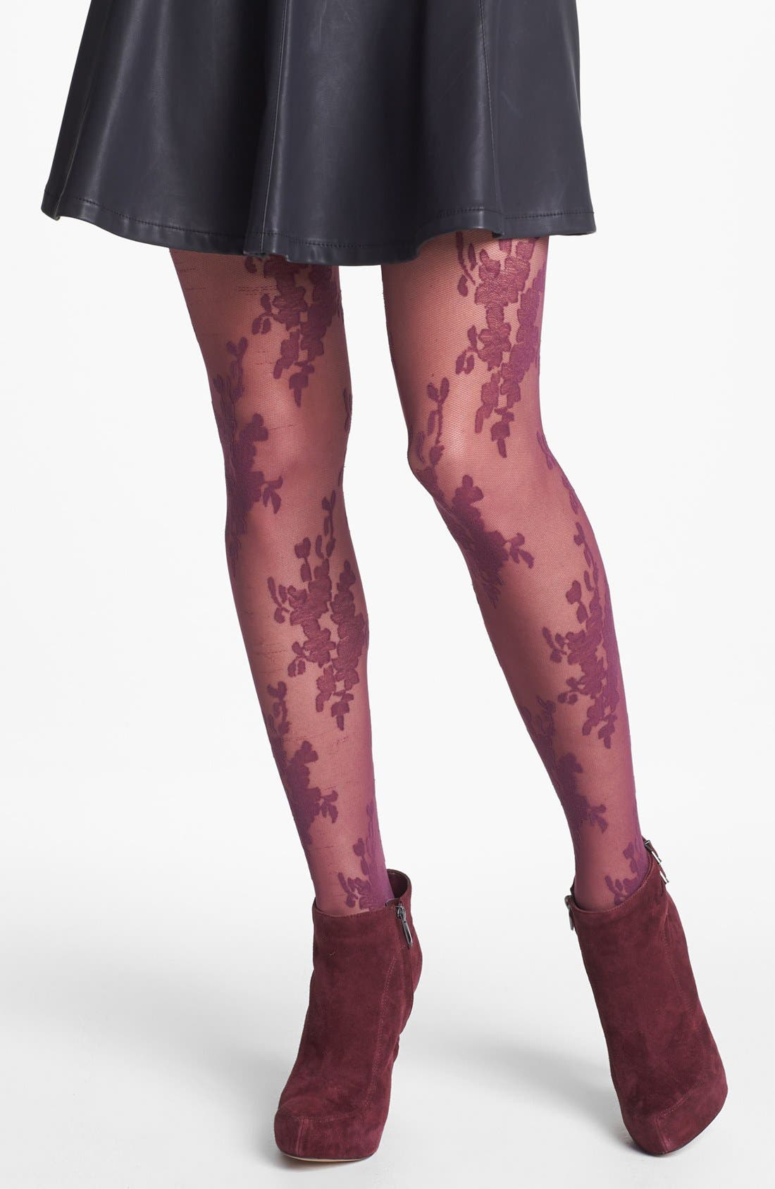 Alternate Image 1 Selected - SPANX® 'Lace Bouquet' Tights