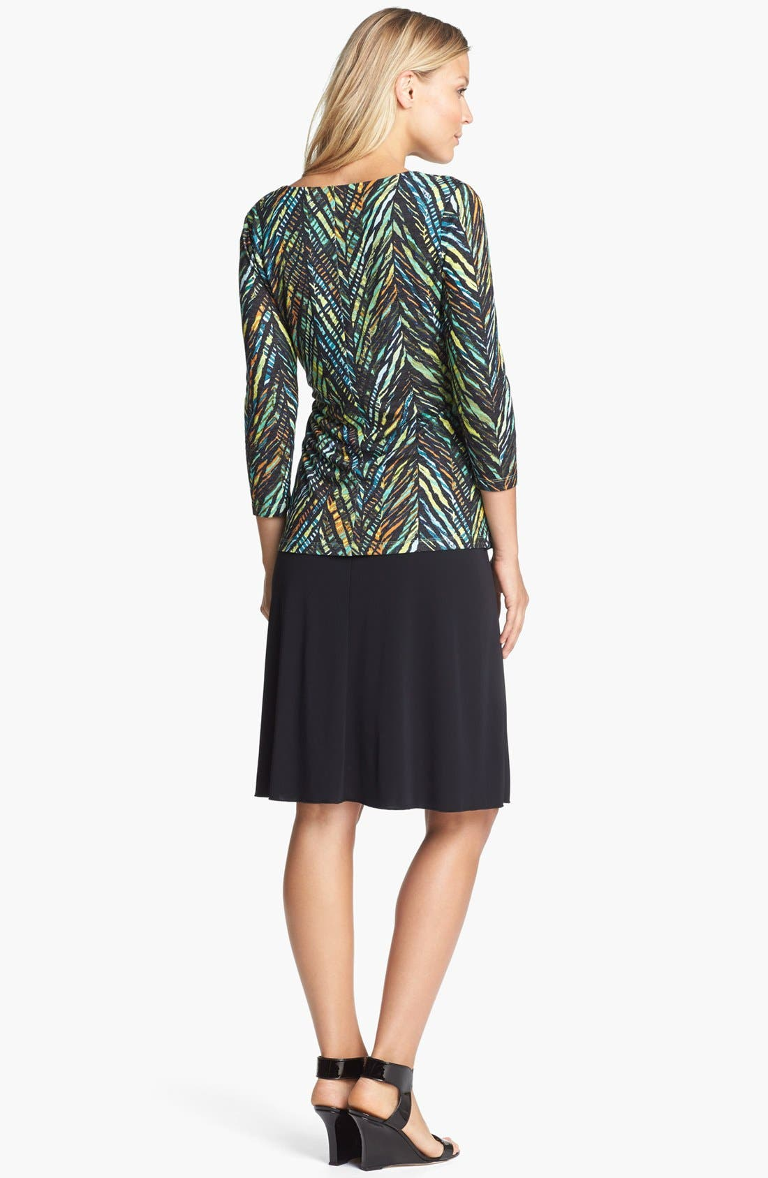 Alternate Image 4  - NIC+ZOE Print Faux Wrap Top