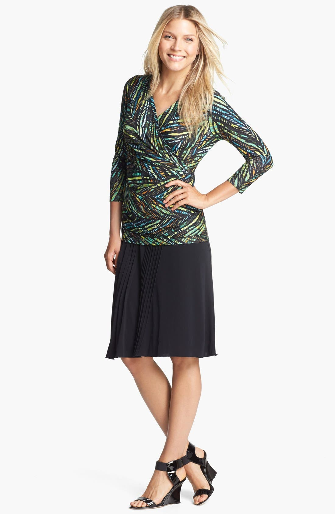 Alternate Image 3  - NIC+ZOE Print Faux Wrap Top