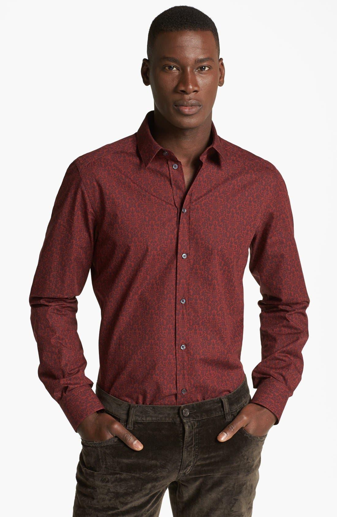 Alternate Image 1 Selected - Dolce&Gabbana Print Woven Sport Shirt