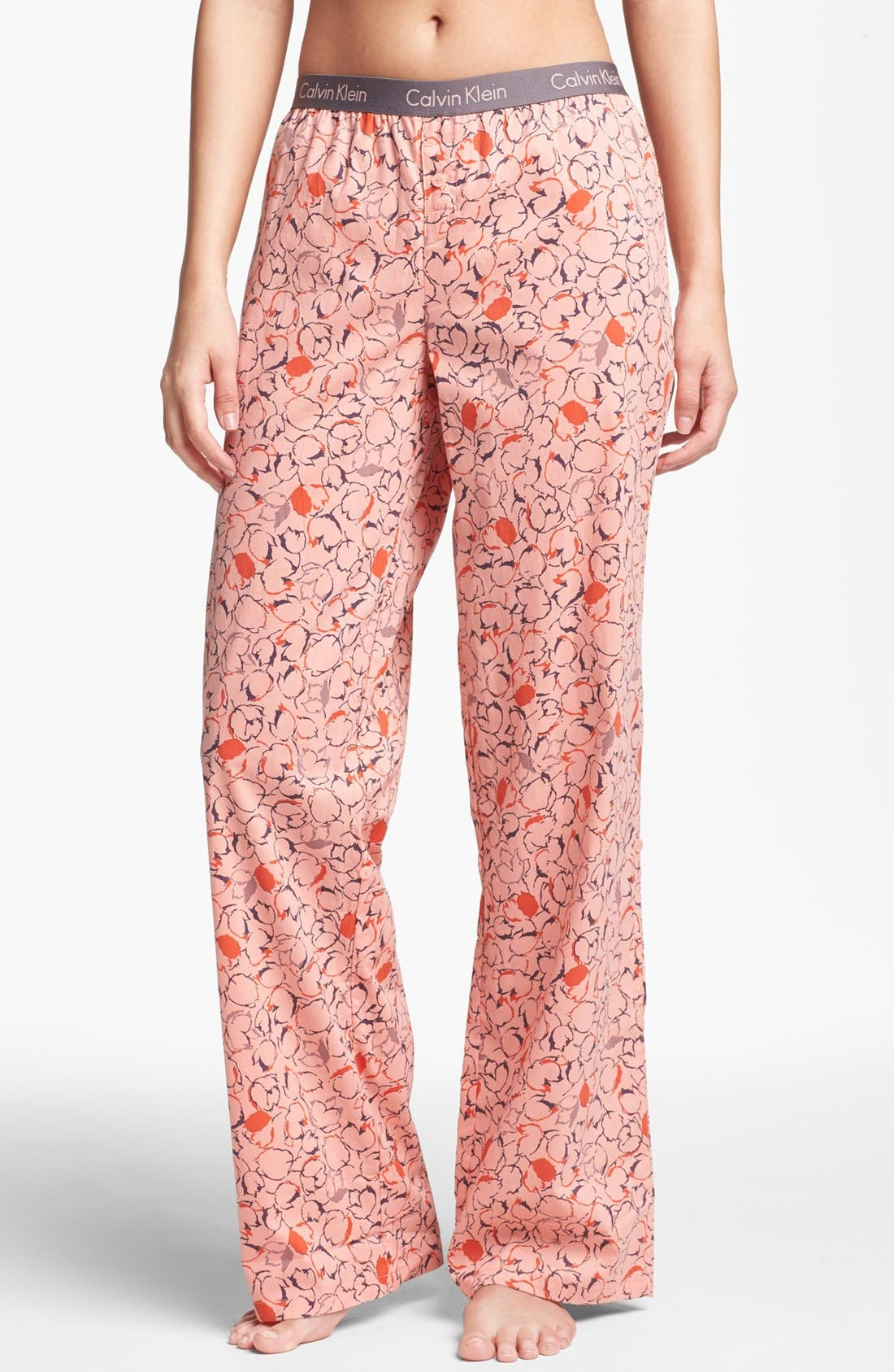 Alternate Image 1 Selected - Calvin Klein Roll Up Pajama Pants