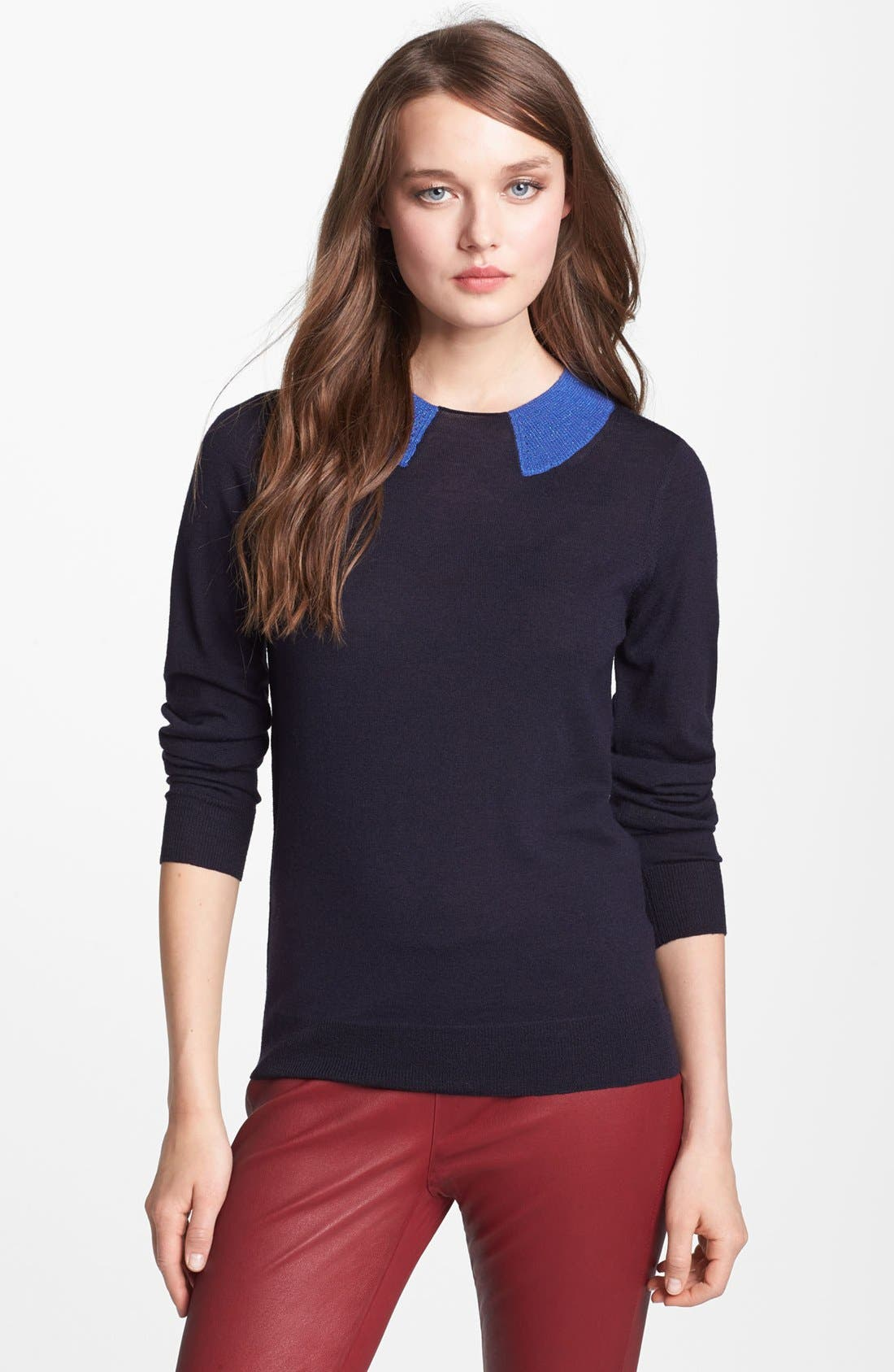Alternate Image 1 Selected - MARC BY MARC JACOBS 'Dorothy' Trompe l'Oeil Sweater