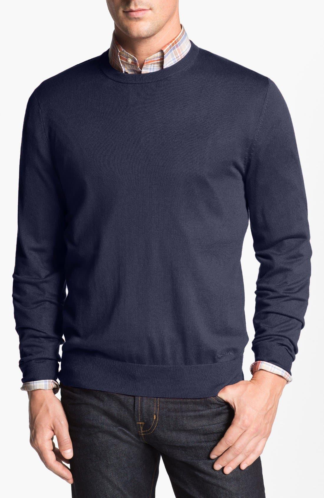 Main Image - Façonnable Crewneck 'Sicoca' Silk Blend Sweater
