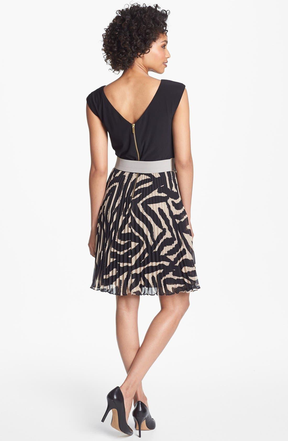 Alternate Image 2  - Eliza J Mixed Media Fit & Flare Dress