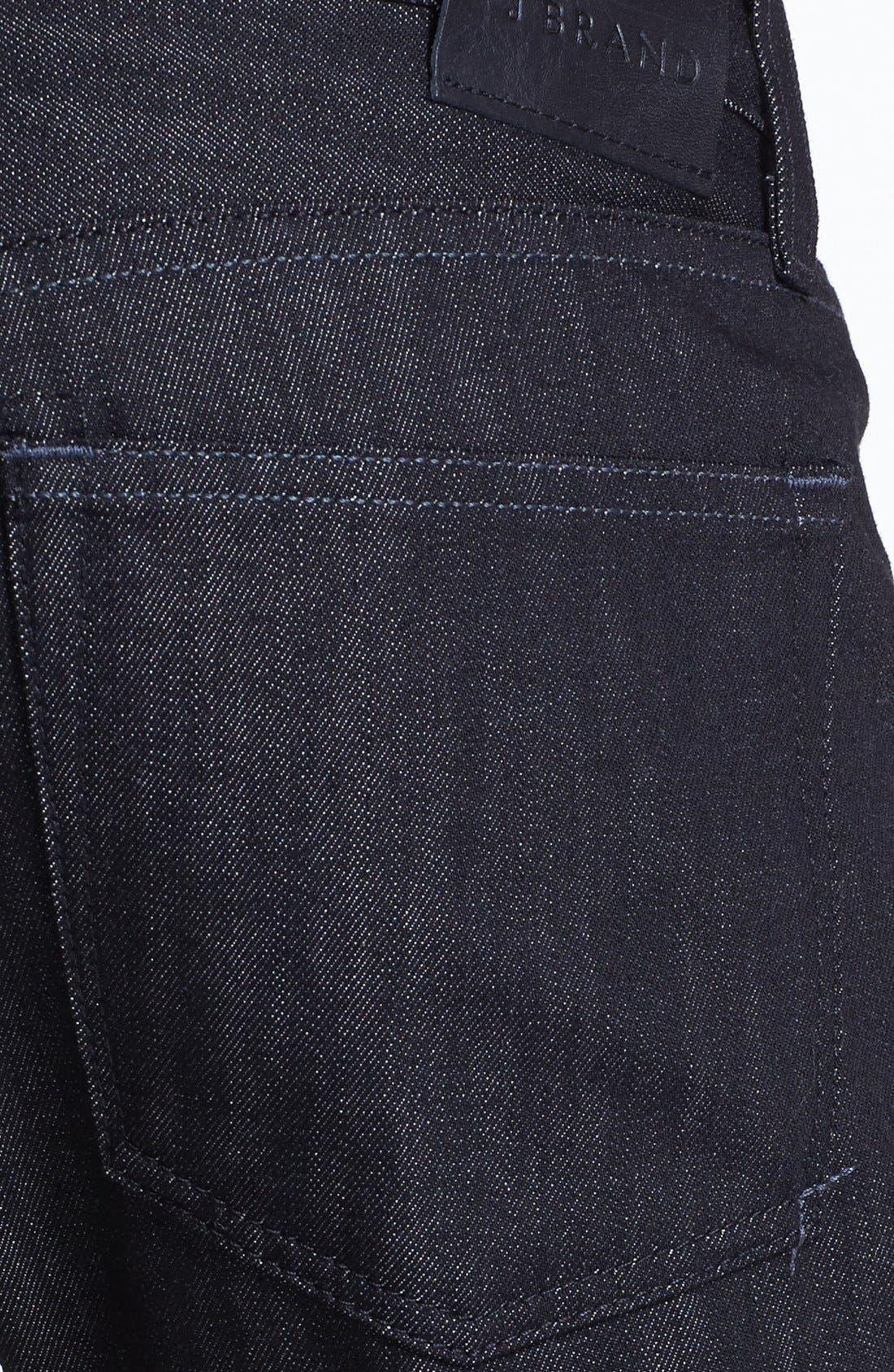 Alternate Image 4  - J Brand 'Tyler' Slim Fit Jeans (Black Raw)
