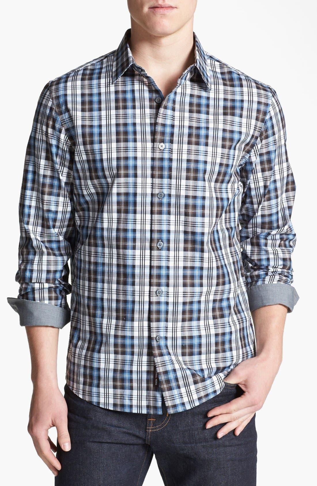 Alternate Image 1 Selected - Michael Kors 'Crispin Check' Regular Fit Sport Shirt