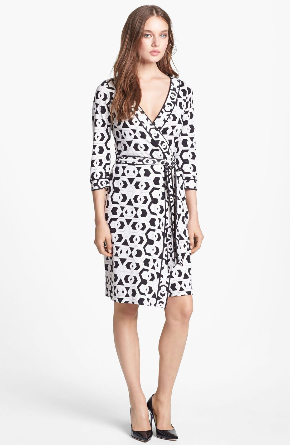 Alternate Image 1 Selected - Diane von Furstenberg 'Julian' Banded Silk Wrap Dress