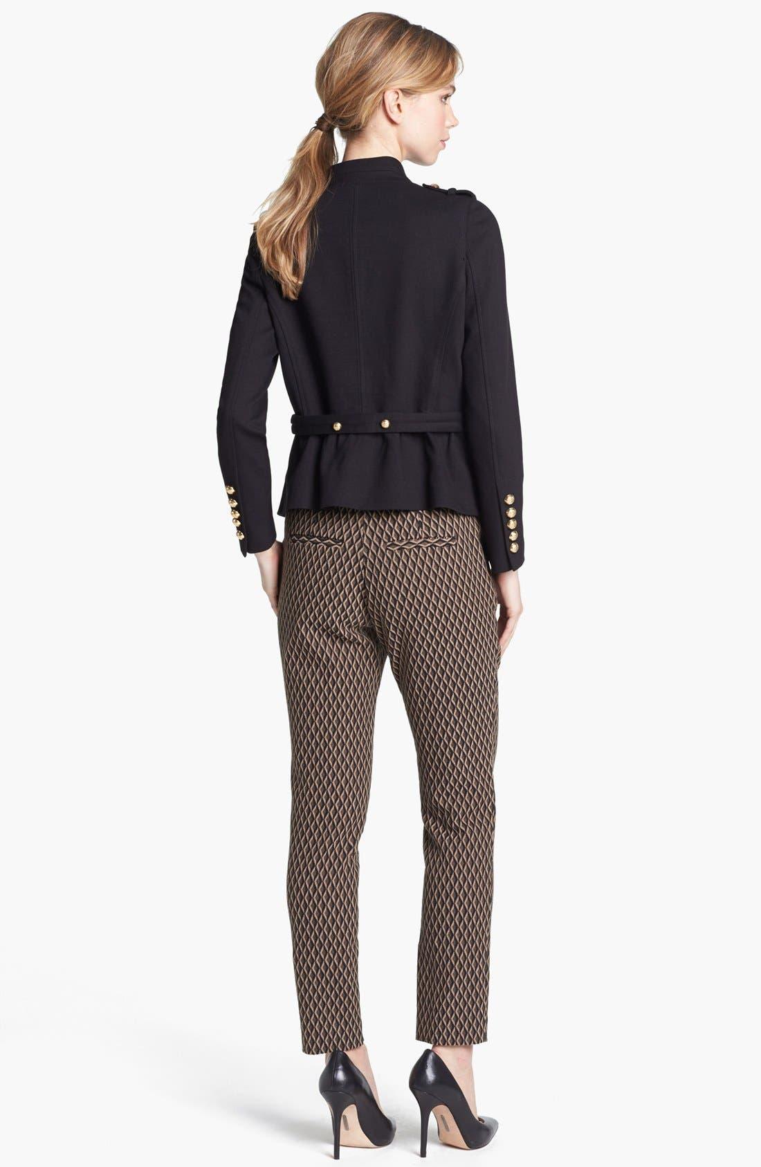Alternate Image 3  - Vince Camuto Satin Waist Jacquard Crop Pants