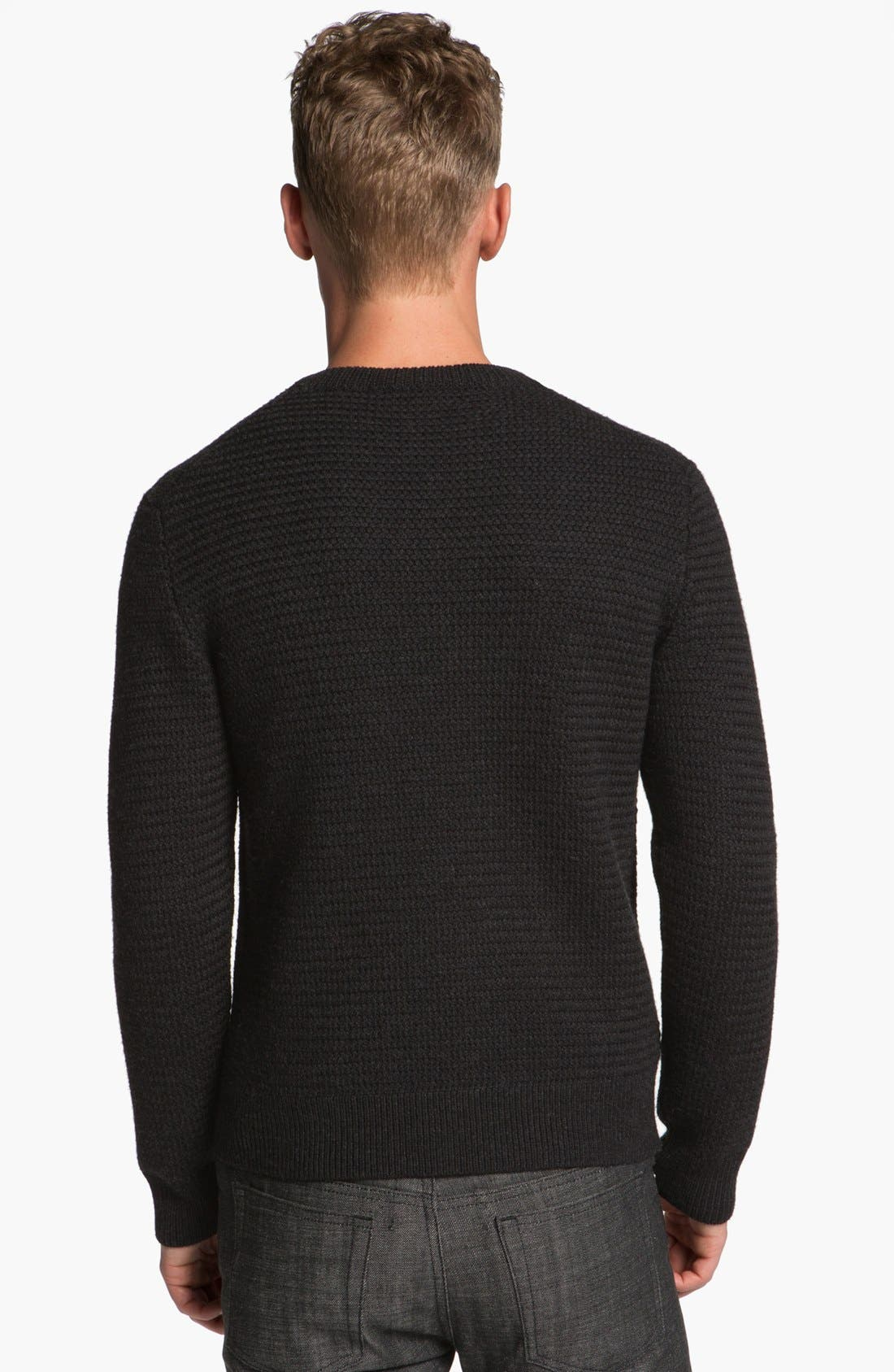 Alternate Image 2  - A.P.C. Thick Wool Crewneck Sweater