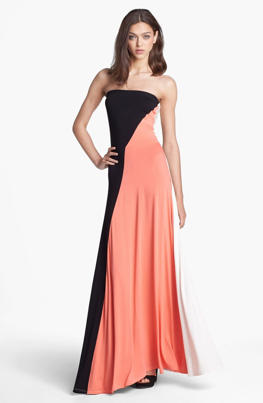 Main Image - Felicity & Coco 'Aimery' Colorblock Jersey Maxi Dress (Nordstrom Exclusive)