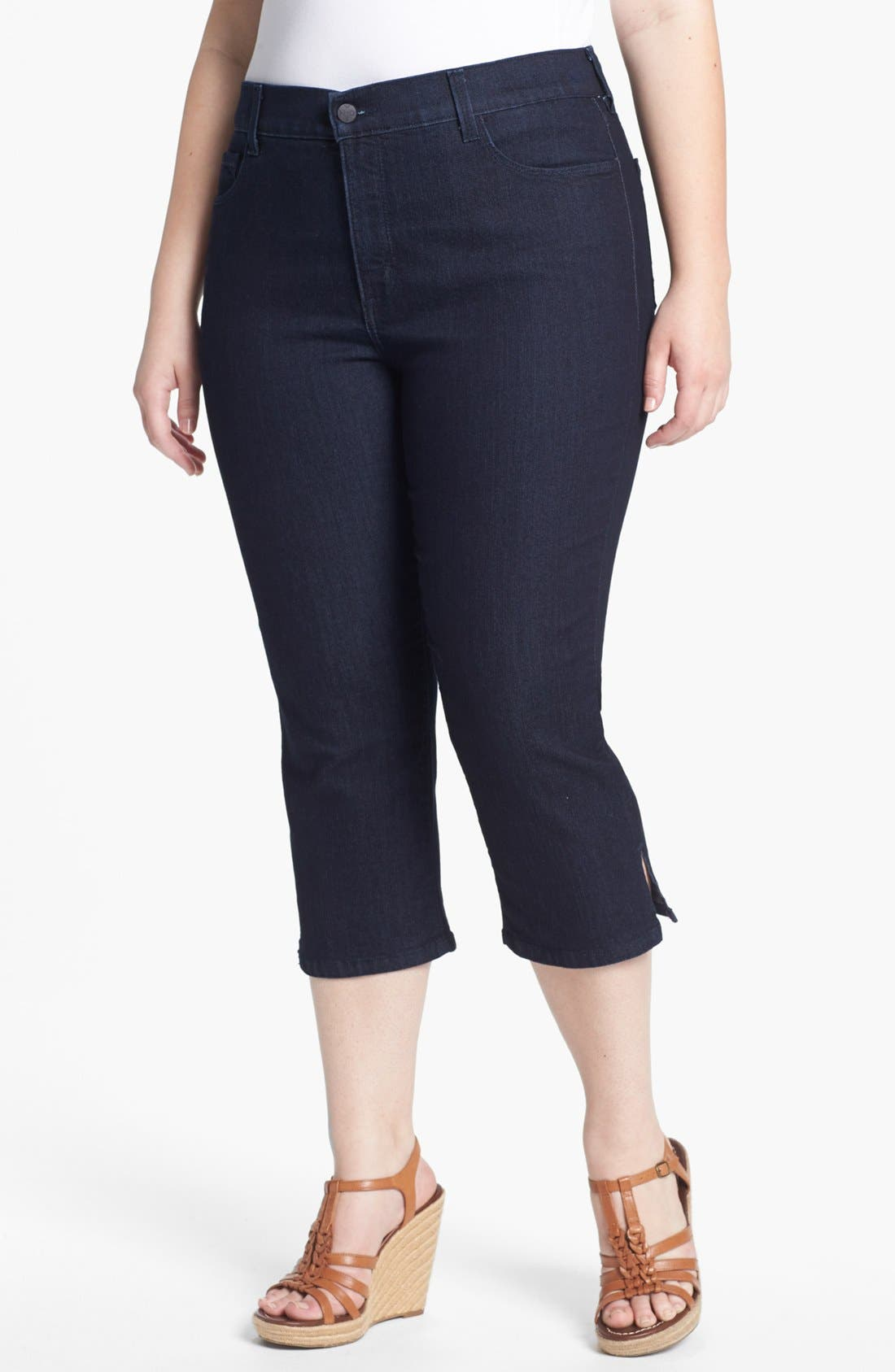 Main Image - NYDJ 'Nanette' Crop Stretch Jeans (Plus Size)