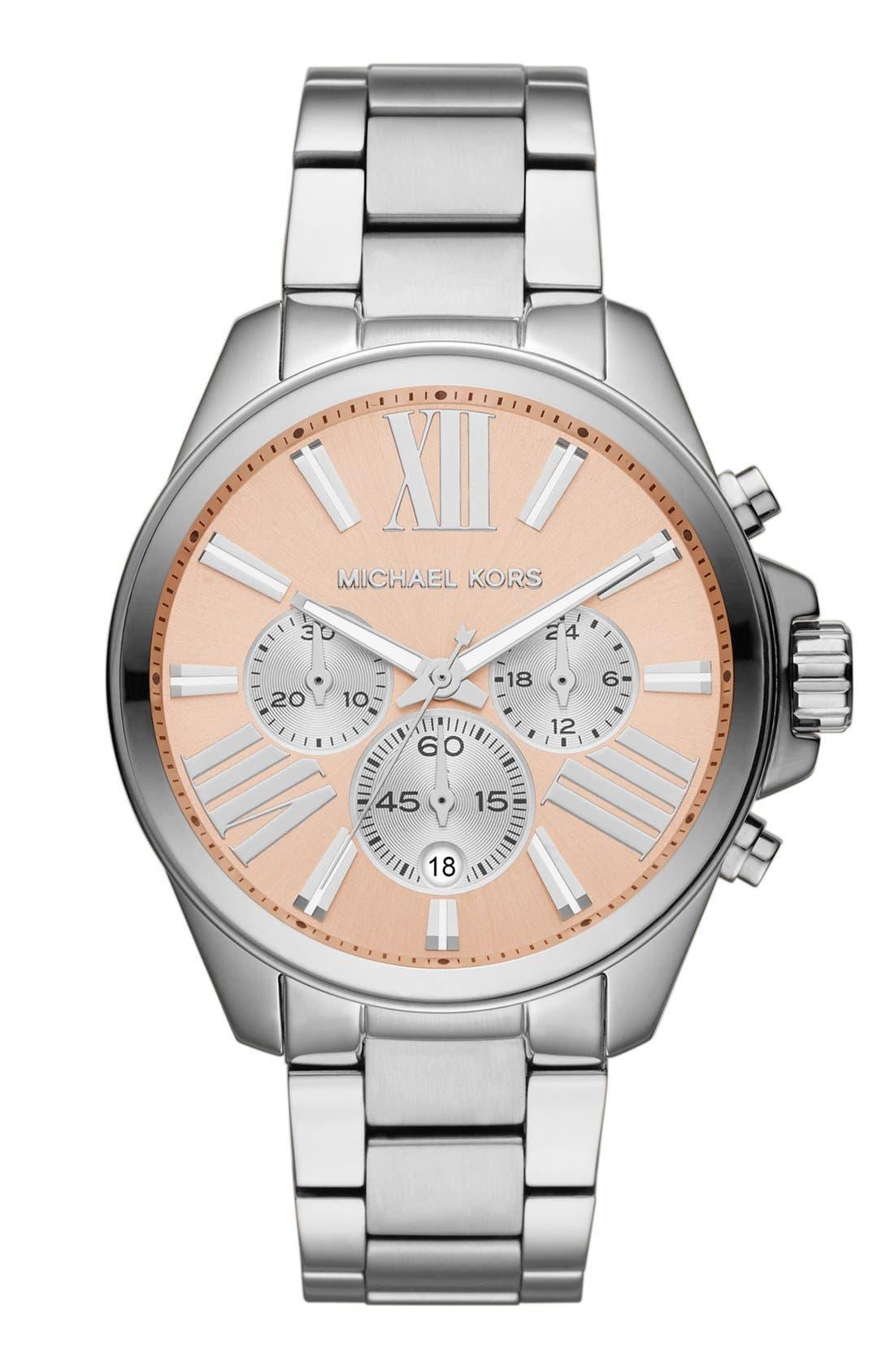 Alternate Image 1 Selected - Michael Kors 'Wren' Chronograph Bracelet Watch, 42mm