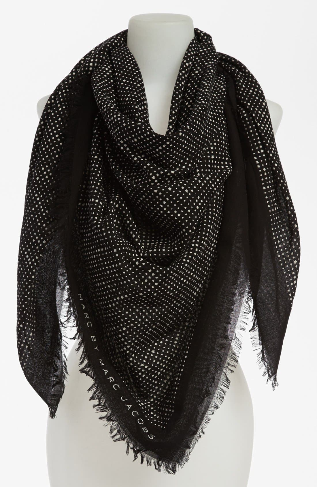 Main Image - MARC BY MARC JACOBS 'Reluctant Stars' Cotton Scarf