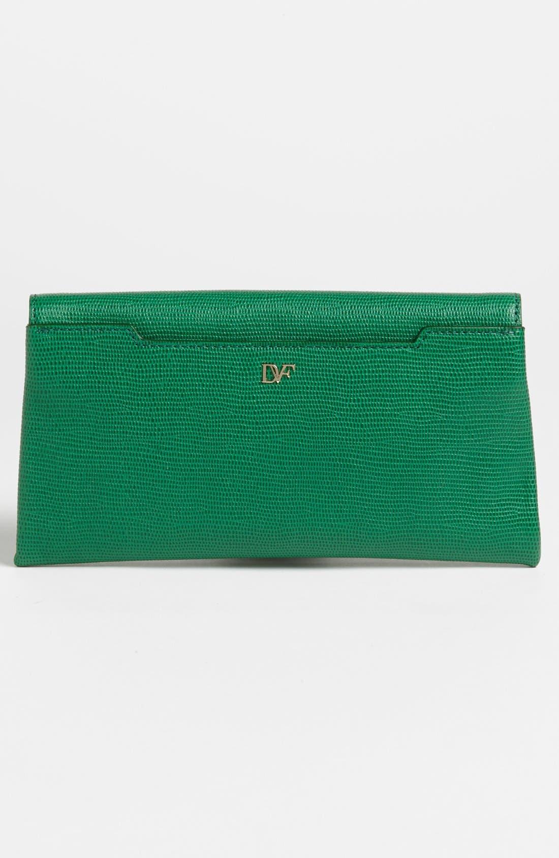 Alternate Image 4  - Diane von Furstenberg '440 - Envelope' Lizard Embossed Leather Clutch
