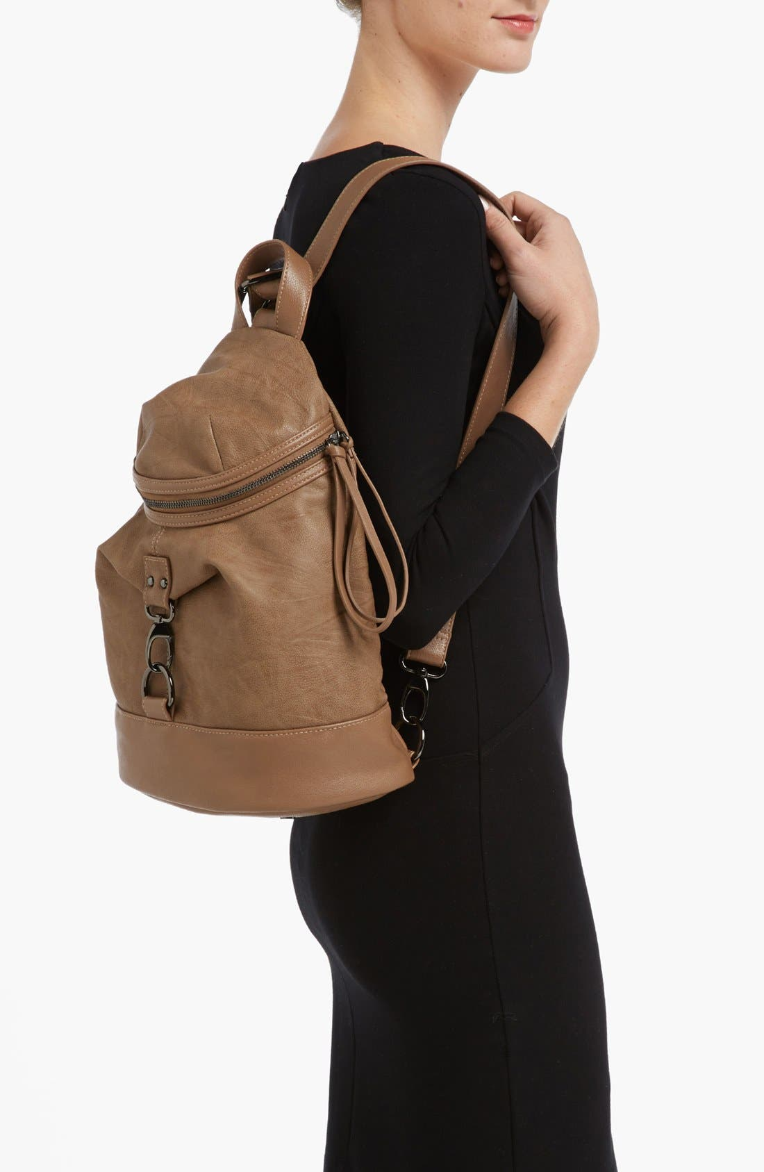 Alternate Image 2  - POVERTY FLATS by rian Faux Leather Backpack