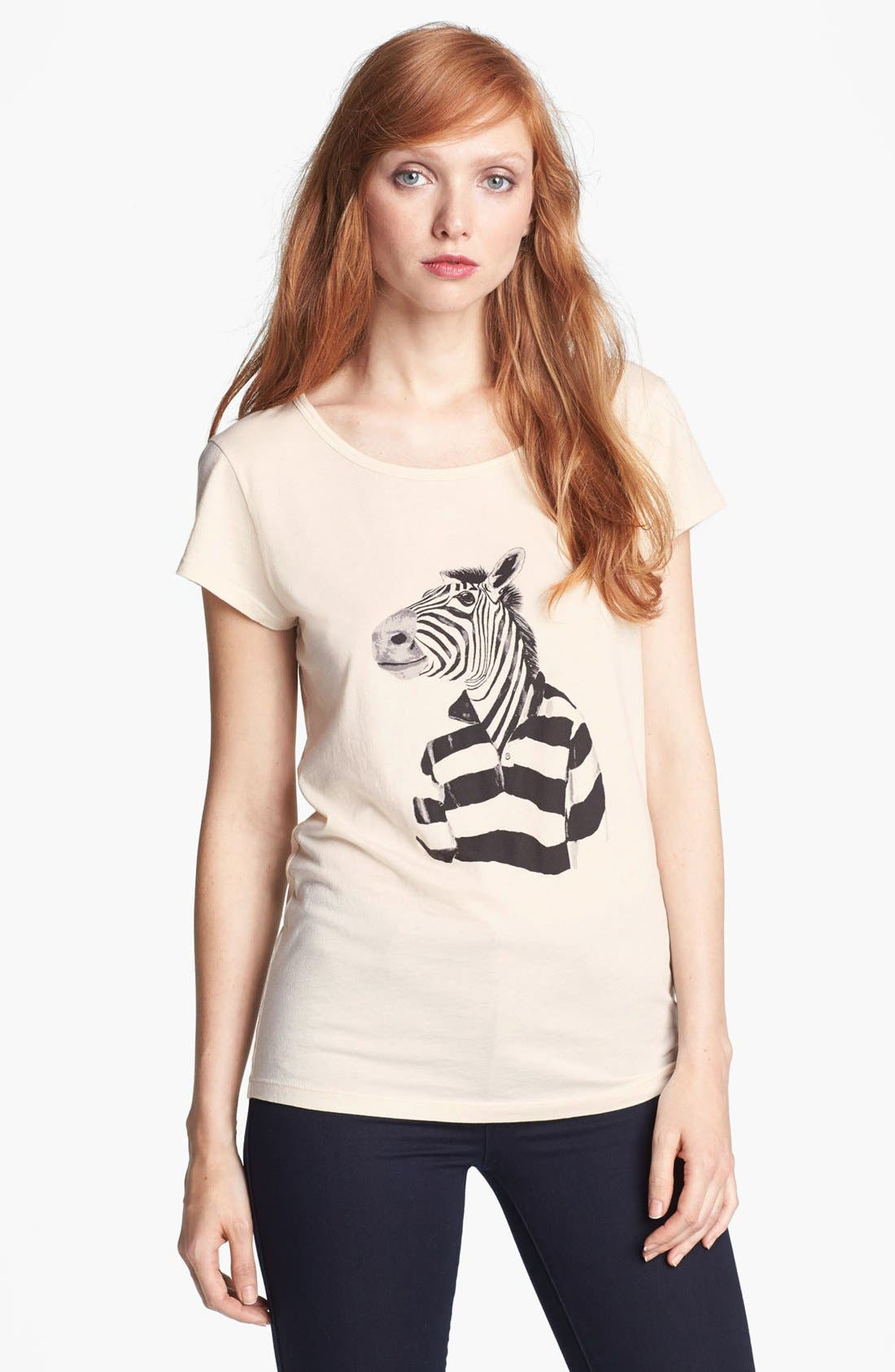Alternate Image 1 Selected - MARC BY MARC JACOBS 'Mr. Zebra' Pima Cotton Tee