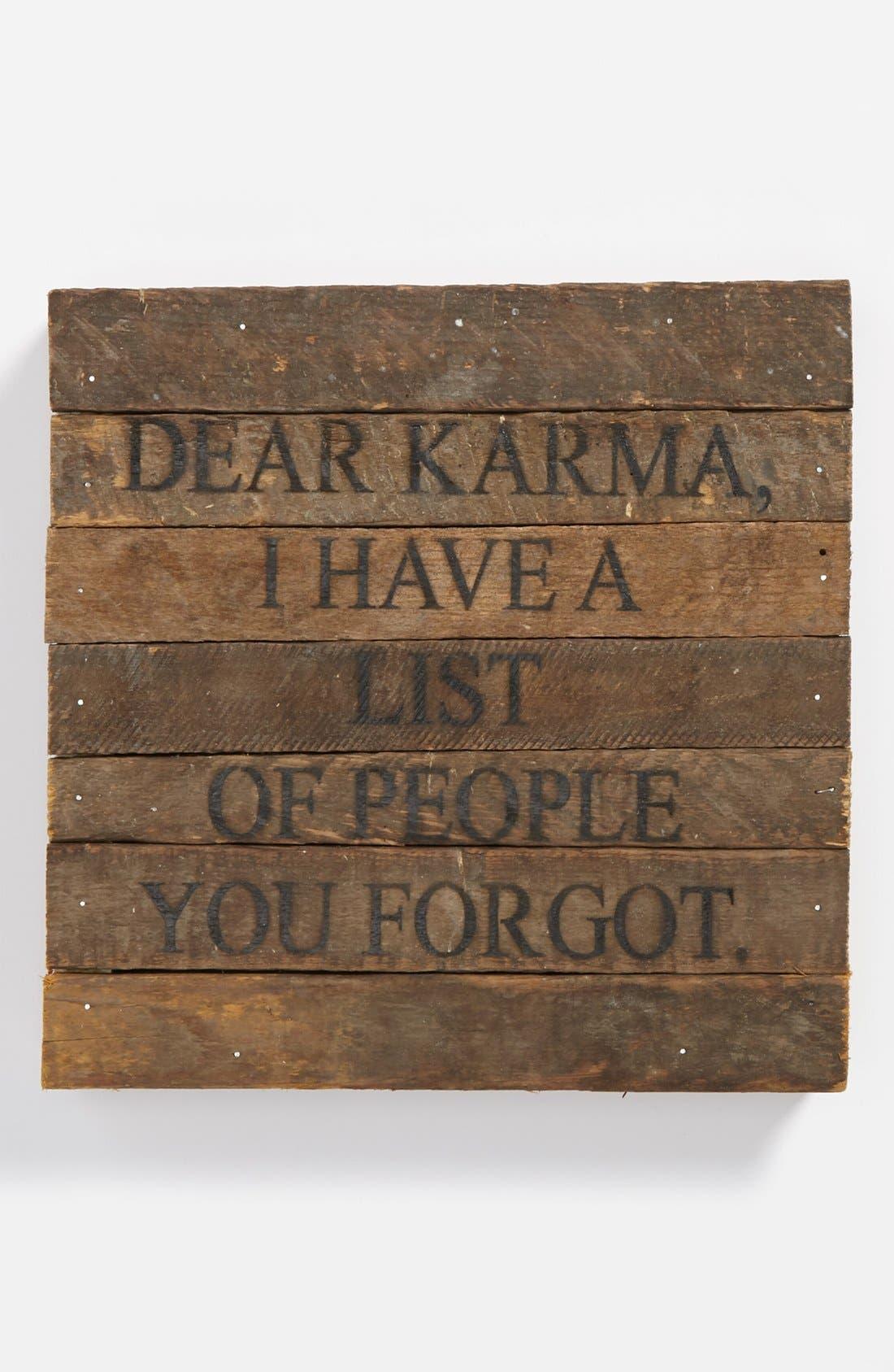 Main Image - 'Dear Karma' Repurposed Wood Wall Art
