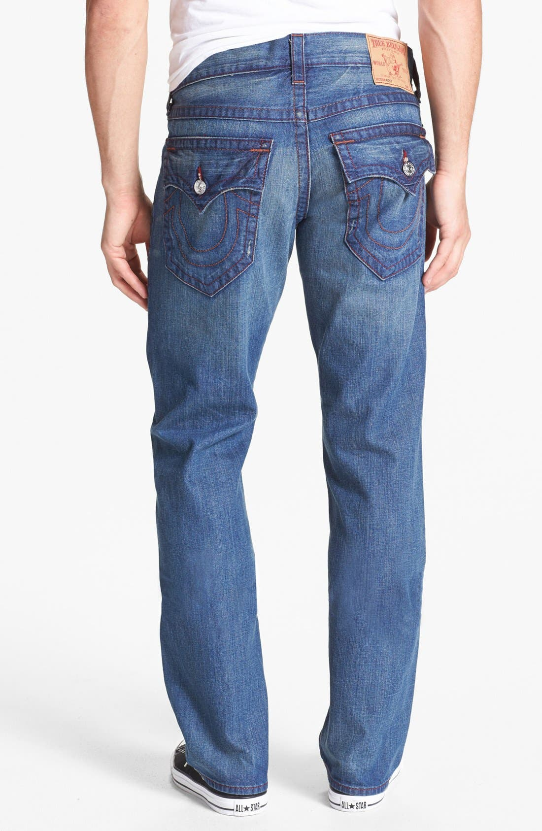 Alternate Image 1 Selected - True Religion Brand Jeans 'Ricky' Straight Leg Jeans (Medium Drifter)