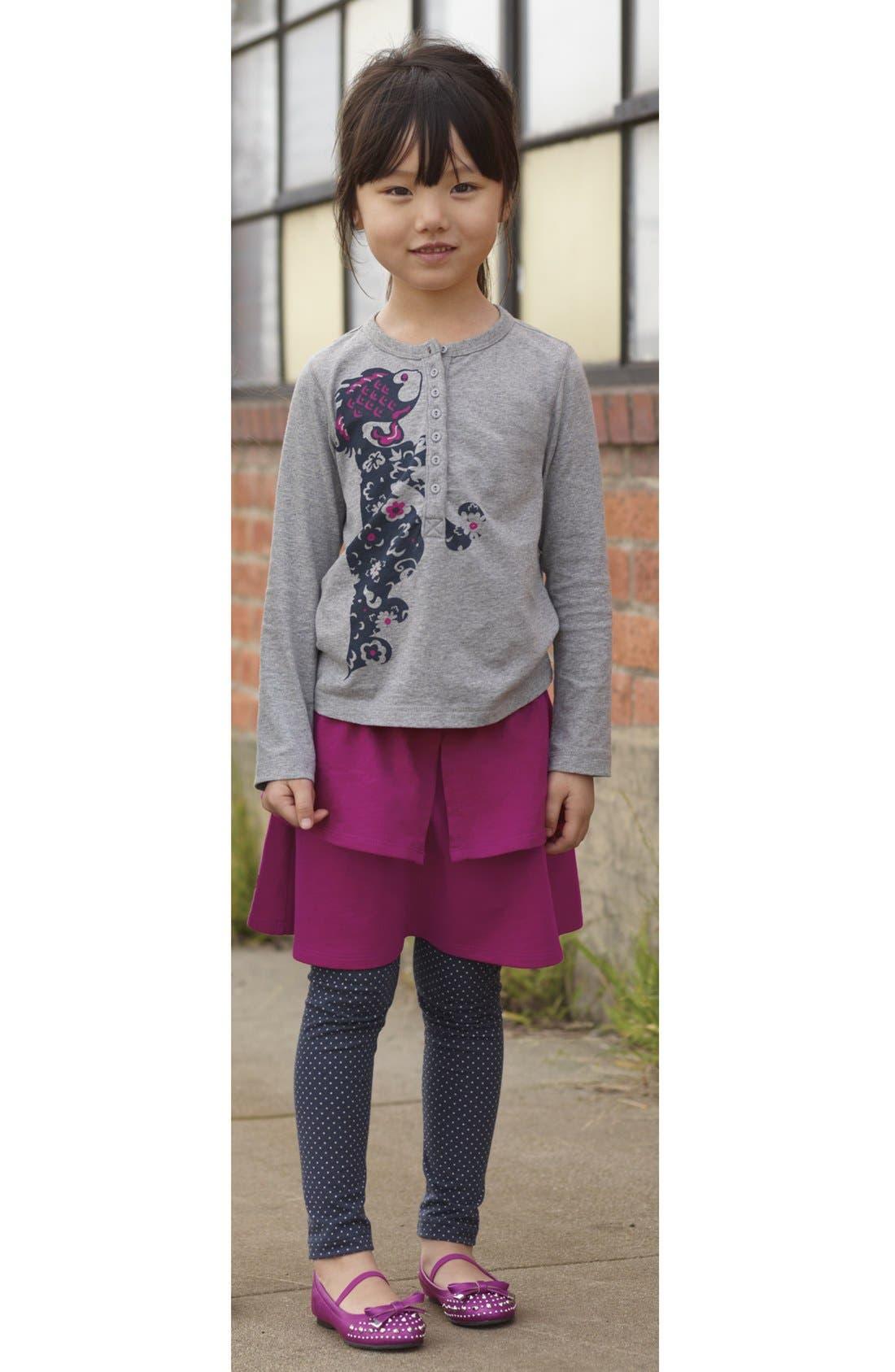 Alternate Image 2  - Tea Collection Polka Dot Stretch Leggings (Little Girls & Big Girls)