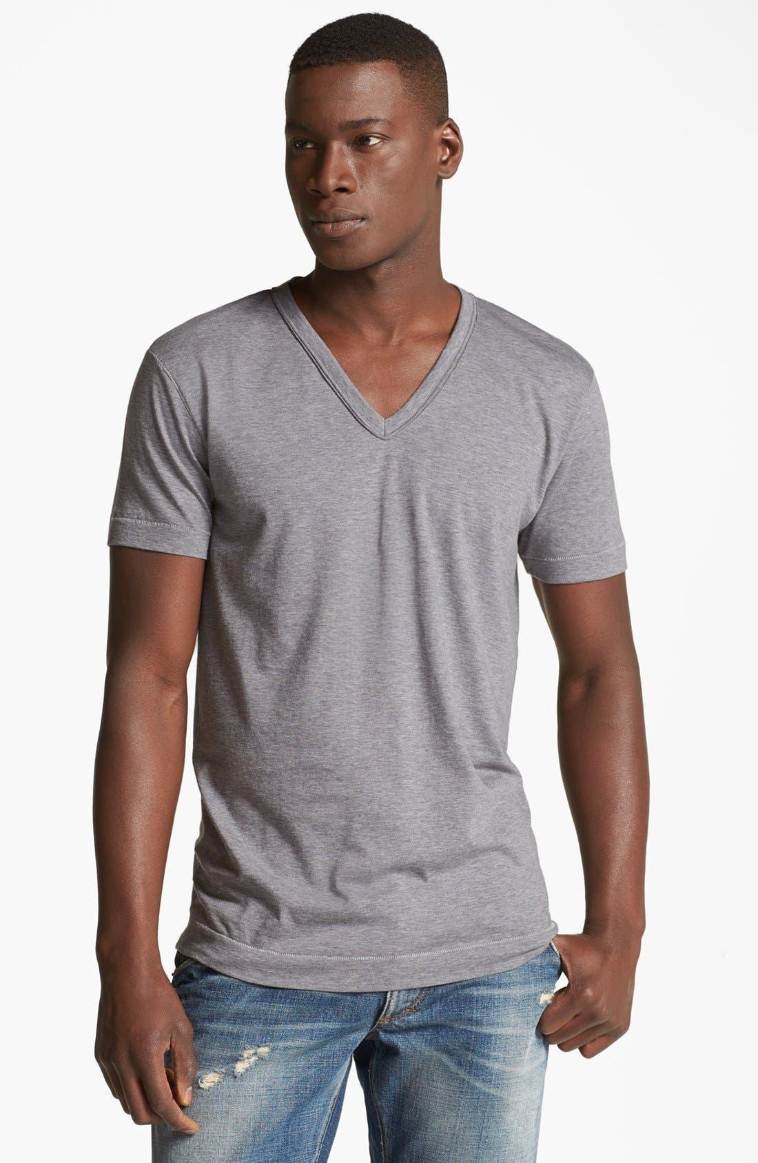 Alternate Image 1 Selected - Dolce&Gabbana Logo V-Neck T-Shirt