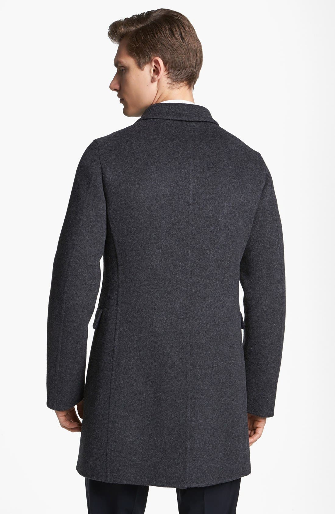 Alternate Image 2  - Jil Sander Three Button Wool Overcoat