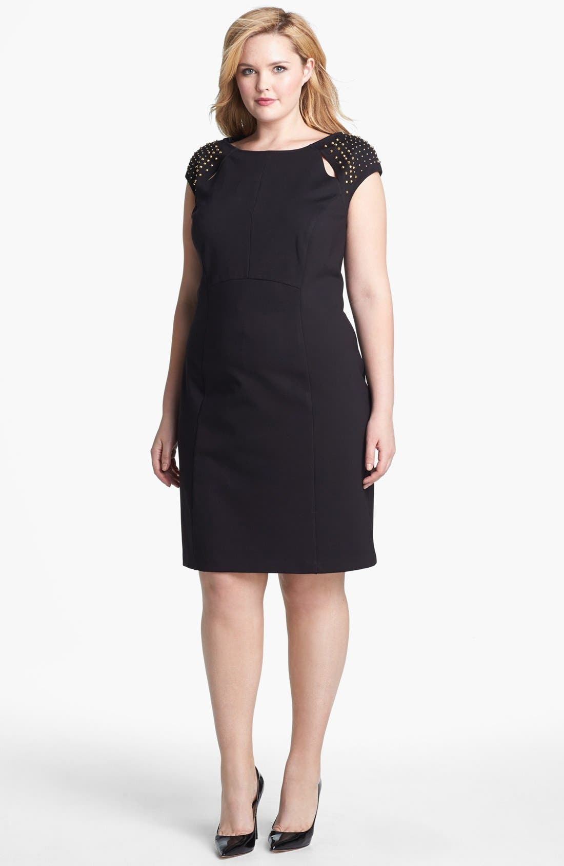 Alternate Image 1 Selected - ABS by Allen Schwartz Studded Sheath Dress (Plus Size)