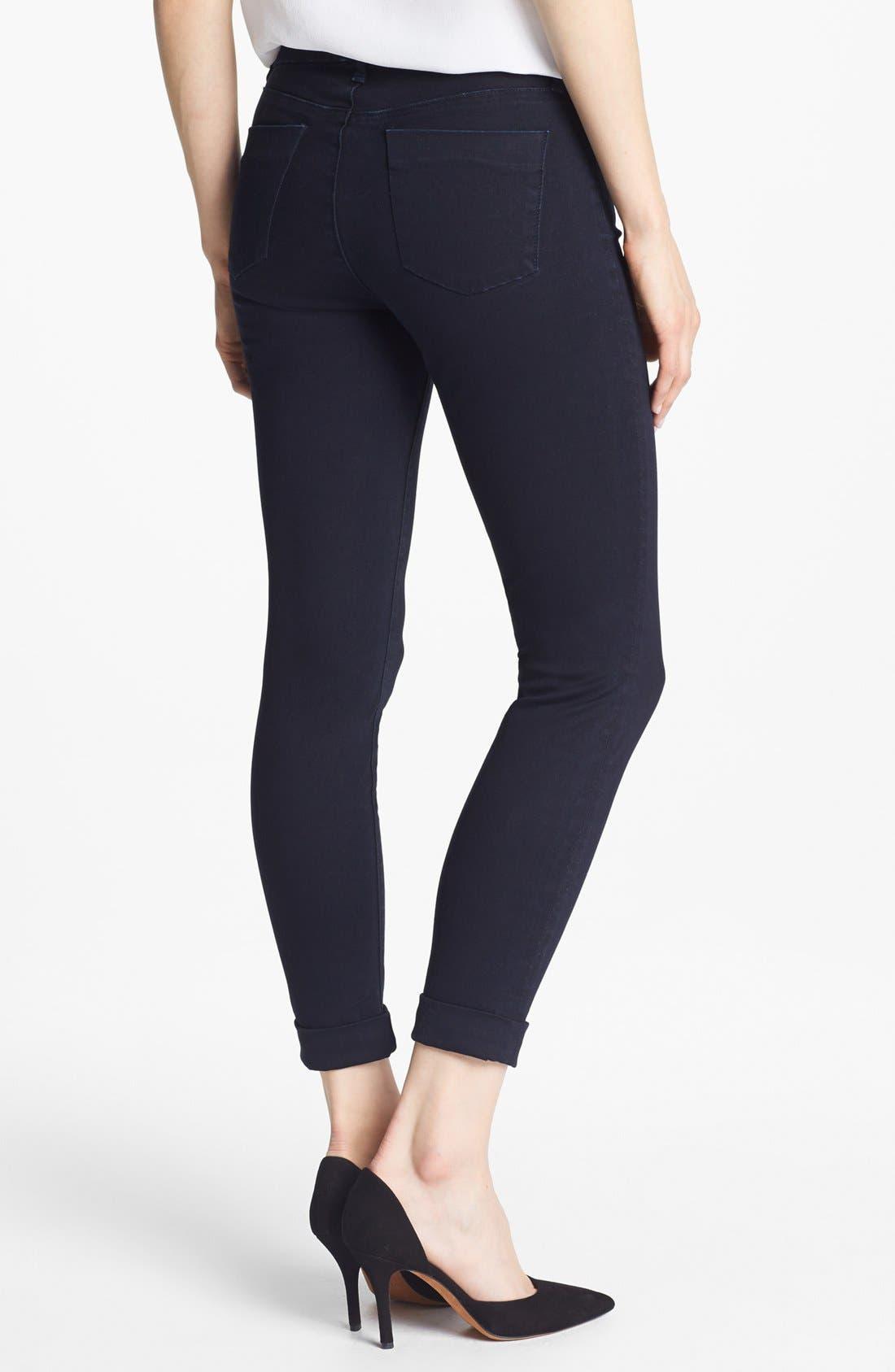Alternate Image 2  - J Brand '8020 Anja' Mid Rise Crop Skinny Jeans (Vision)