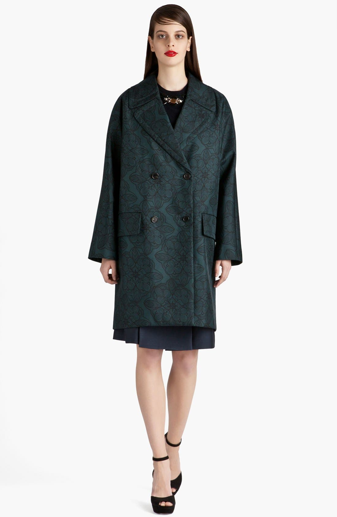 Alternate Image 2  - Marni Snowflower Print Bonded Coat