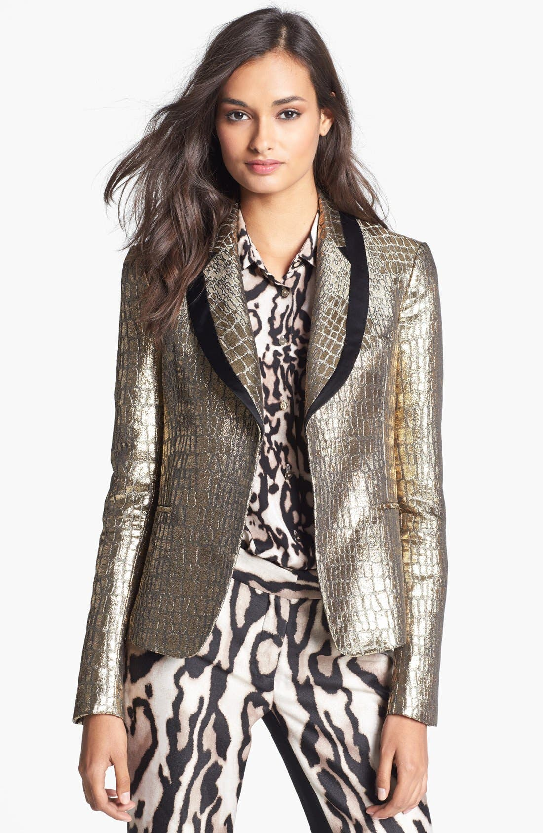 Alternate Image 1 Selected - Diane von Furstenberg 'Ofelia' Metallic Blazer