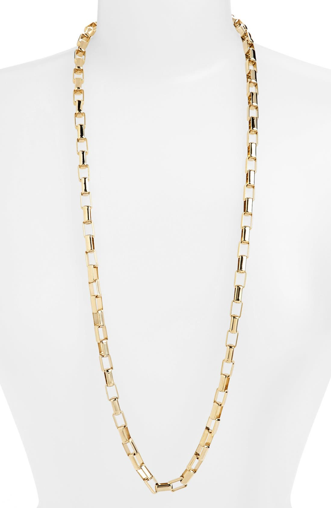 Main Image - Nordstrom Long Square Link Necklace
