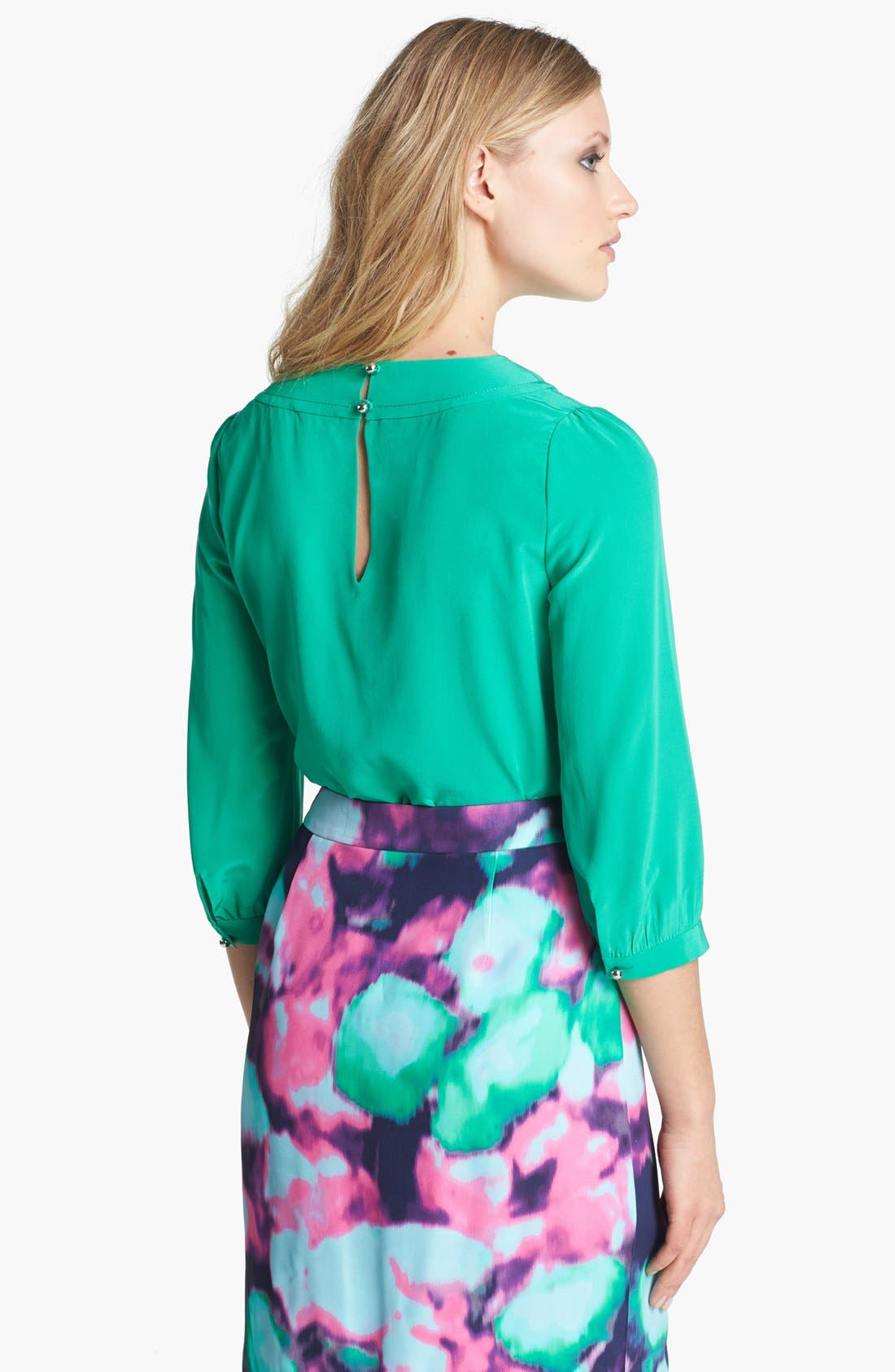Alternate Image 2  - kate spade new york 'moxie' pleated silk top